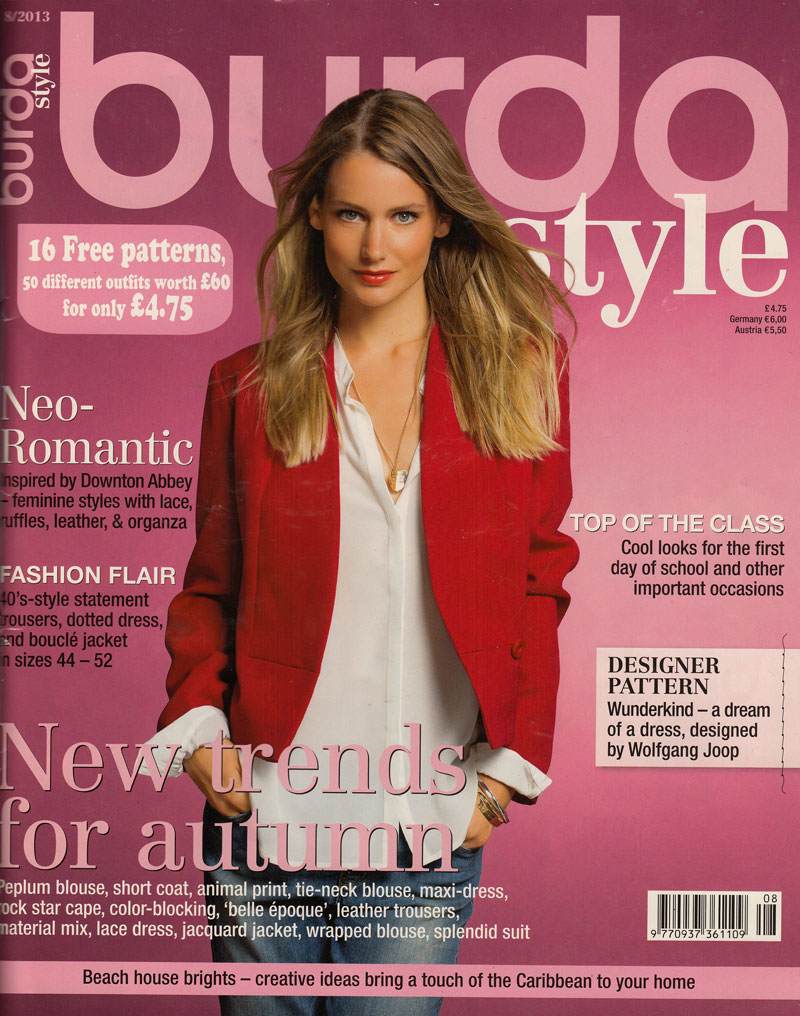 Ooobop review burda style august 2013 ooobop burdastyle magazine august 2013 bankloansurffo Images