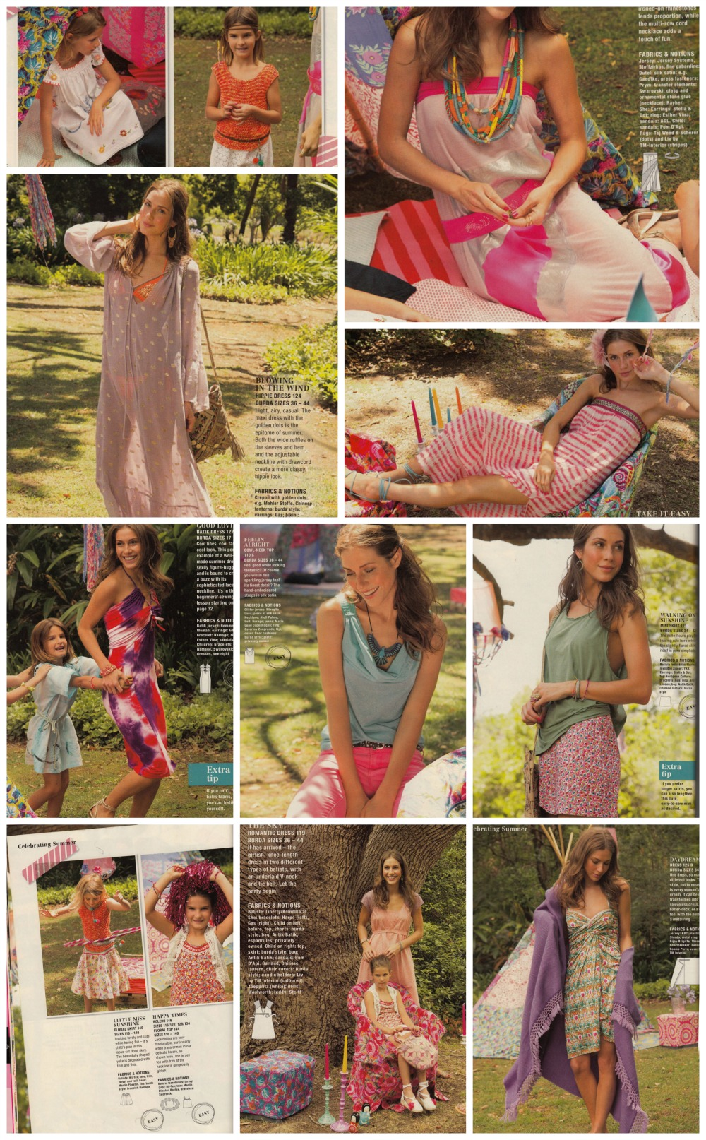 Burda July 2013 summer designs