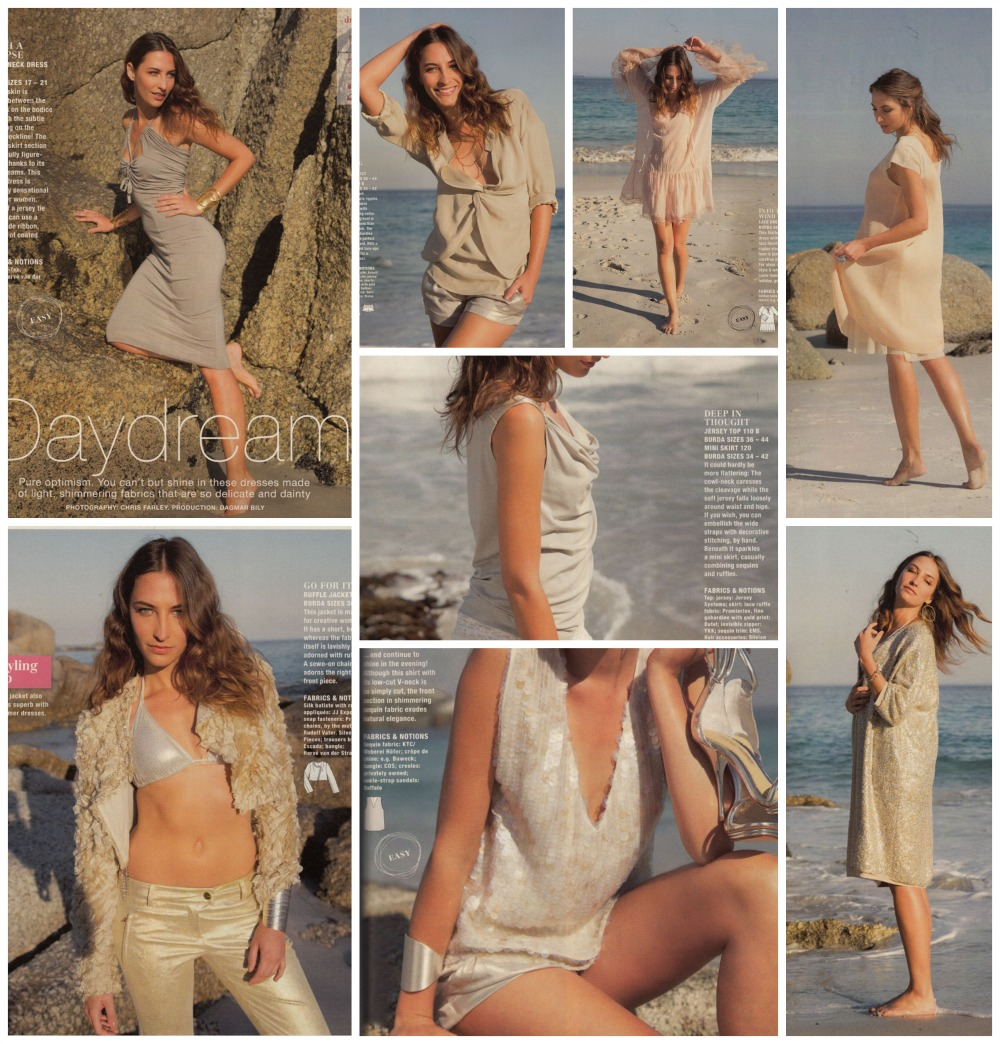 Burda July 2013 Summer shimmering fashions