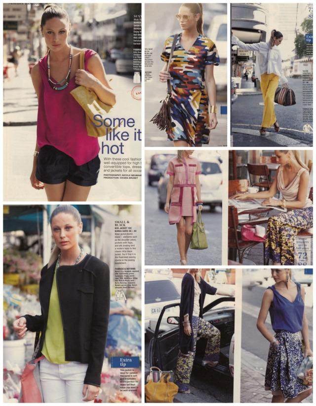 Burda July 2013 summer fashions