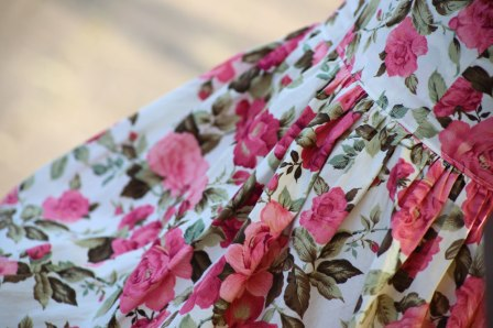 vintage rose dress detail