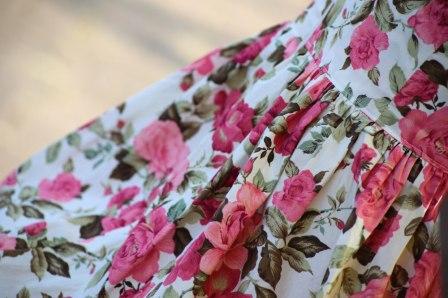 vintage rose dress detail
