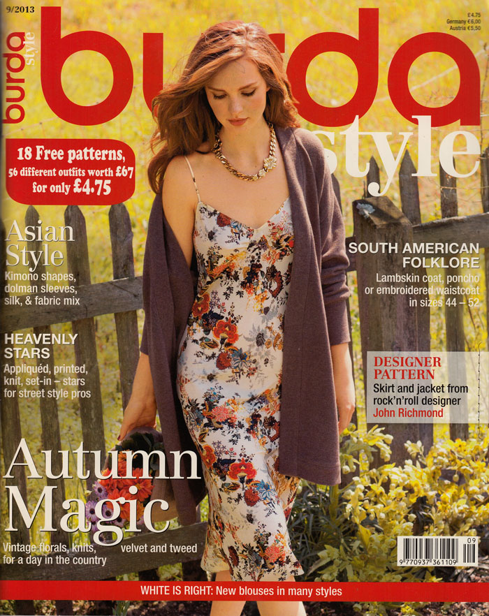 Ooobop Review Burda Style September 2013 Ooobop