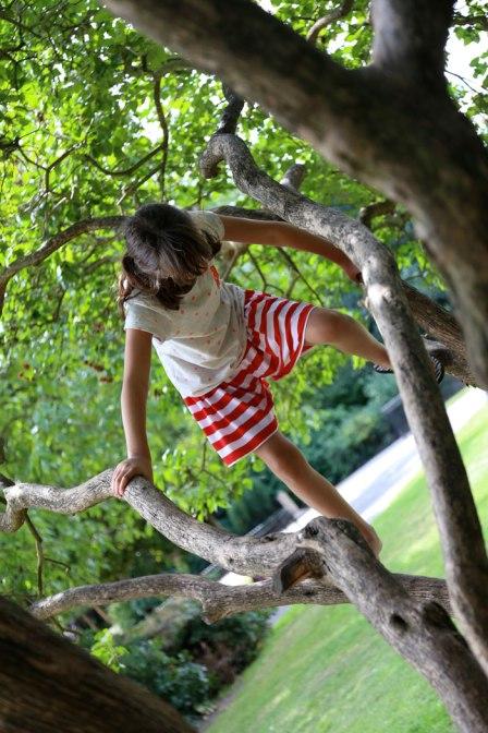 stripy skirt shorts