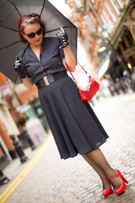 half circle skirt front view