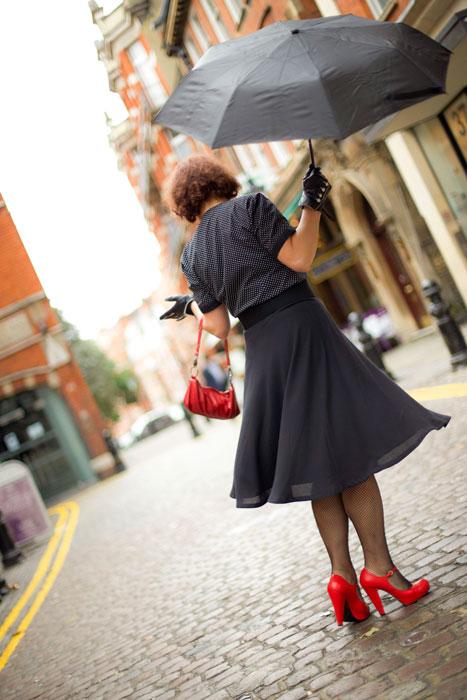 twirling in half circle skirt