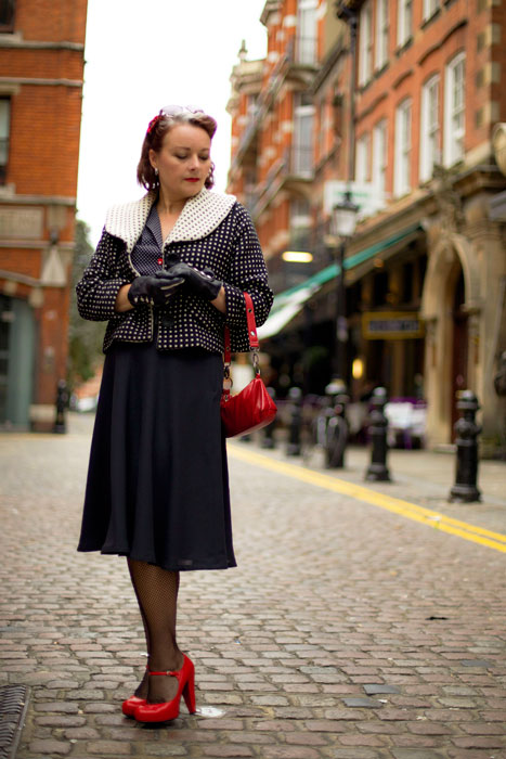 half circle skirt with jacket