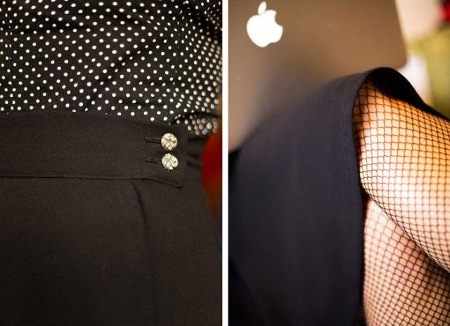 half circle skirt detail