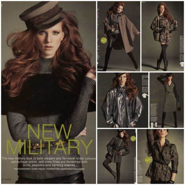 military fashions burda october 2013