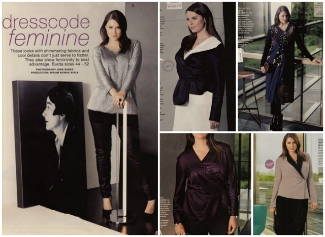 Plus size burda fashions october 2013