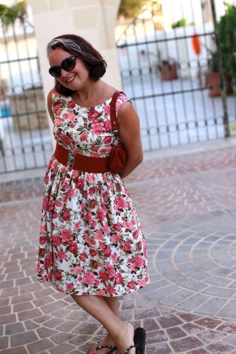 vintage rose Elisalex dress