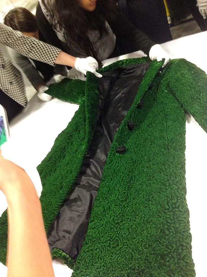 balenciaga green coat