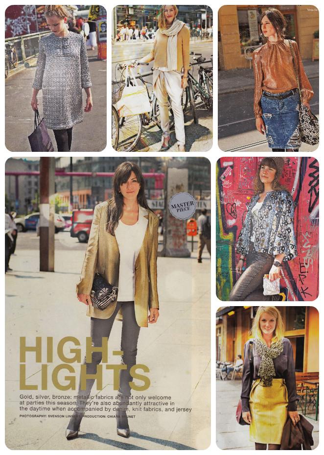 burda 11-13 metallic garments