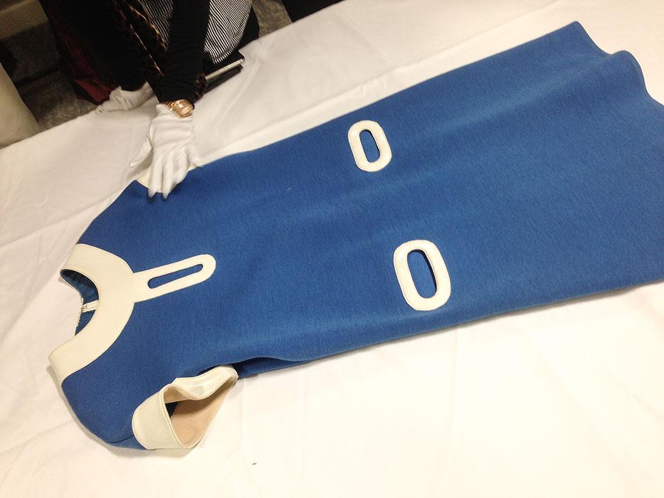 courreges blue dress