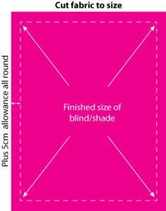 roman shade step 1