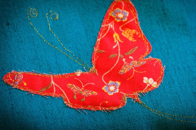 butterfly applique detail