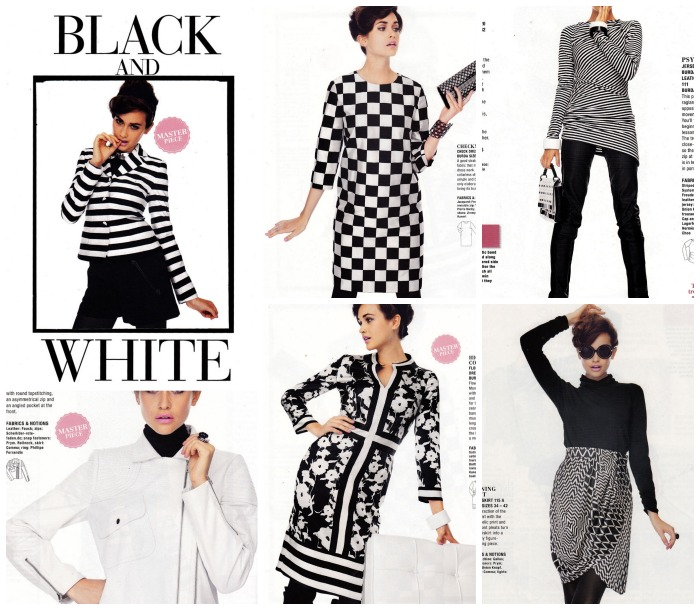 black and white burda january 2014