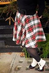 tartan circle skirt