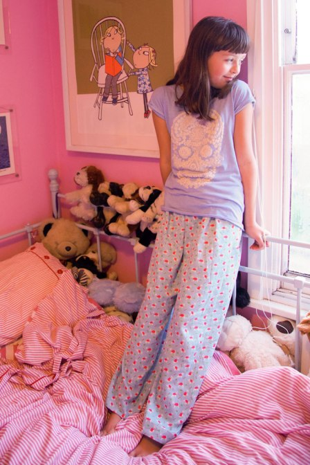 Cath Kidston mini stanley pjs by the window